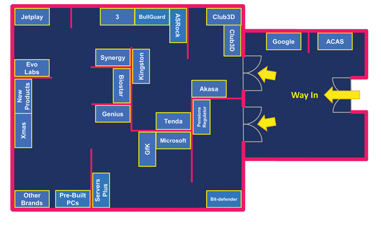 Target Open Day 2015 Exhibition Floorplan