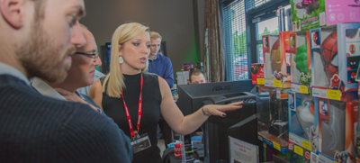 Target staff show some of the latest products at the Open Day 2015