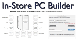 In-Store PC Builder demonstration